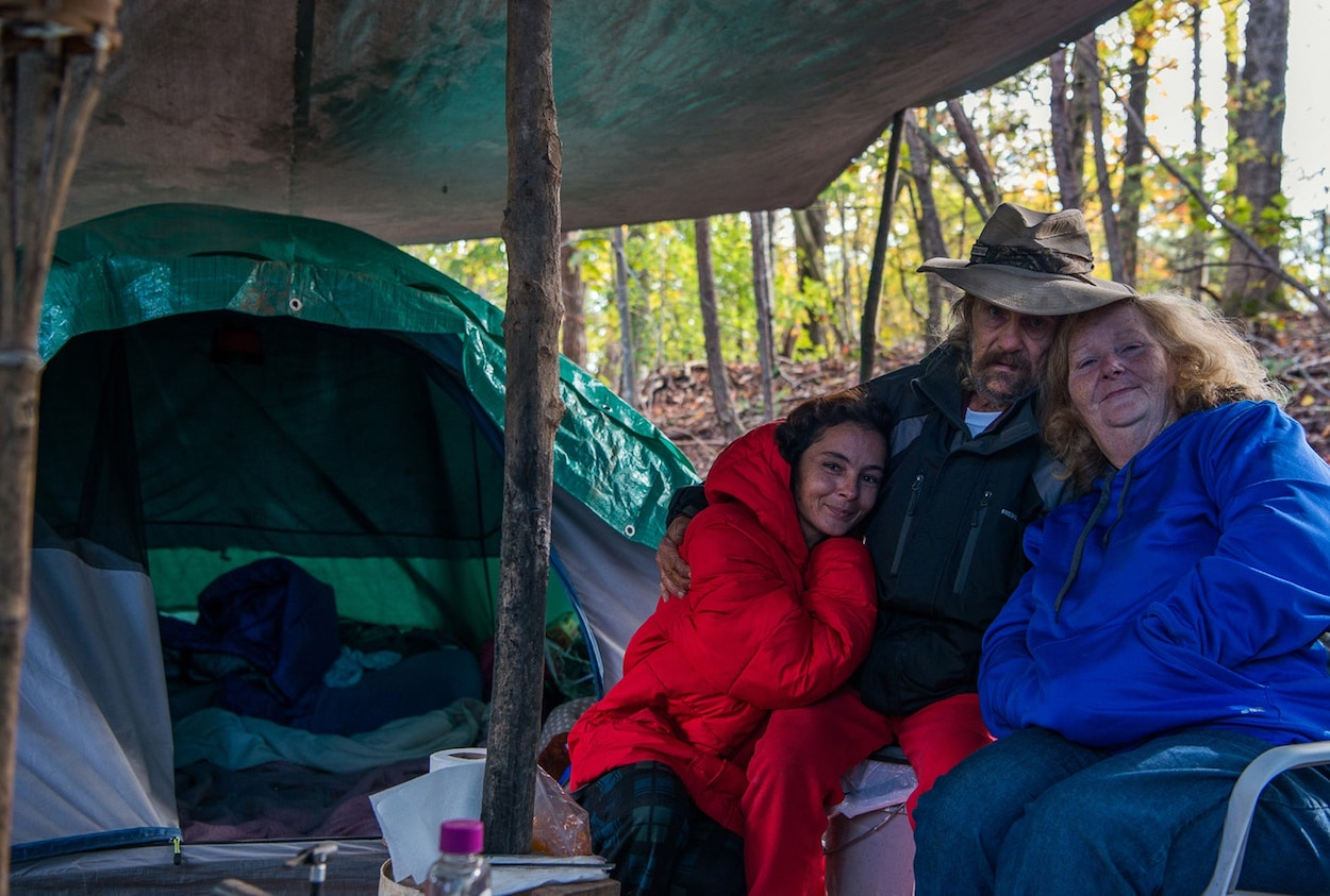 Life in the woods: North Carolina's growing homeless tent camps are